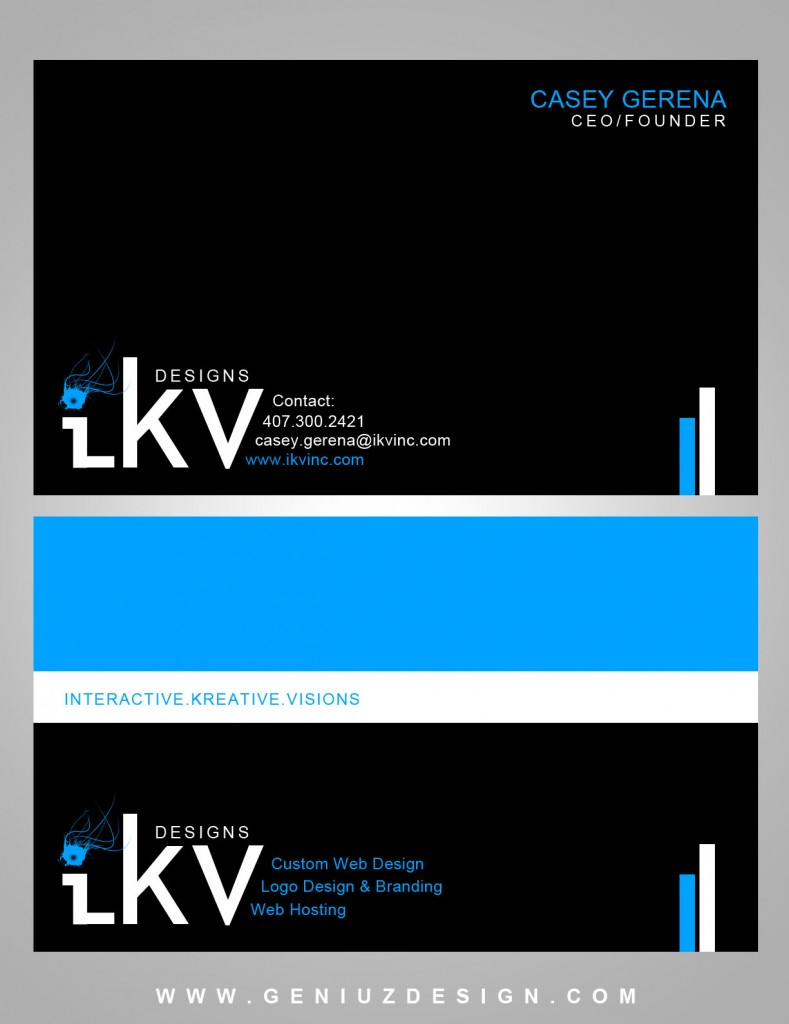 ikv Designs Business Card (Remade)