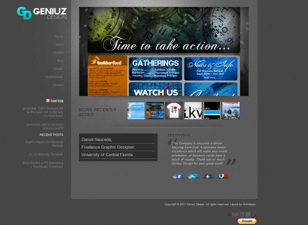 Geniuz Design Website