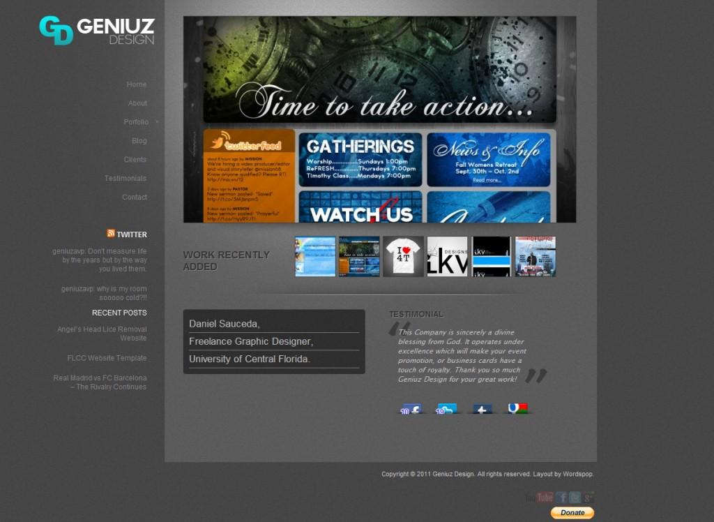 Geniuz Design Website