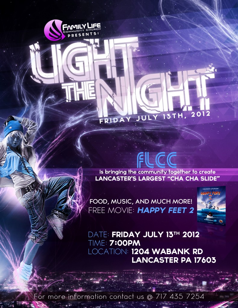 porfolio geniuz design light the night flyer