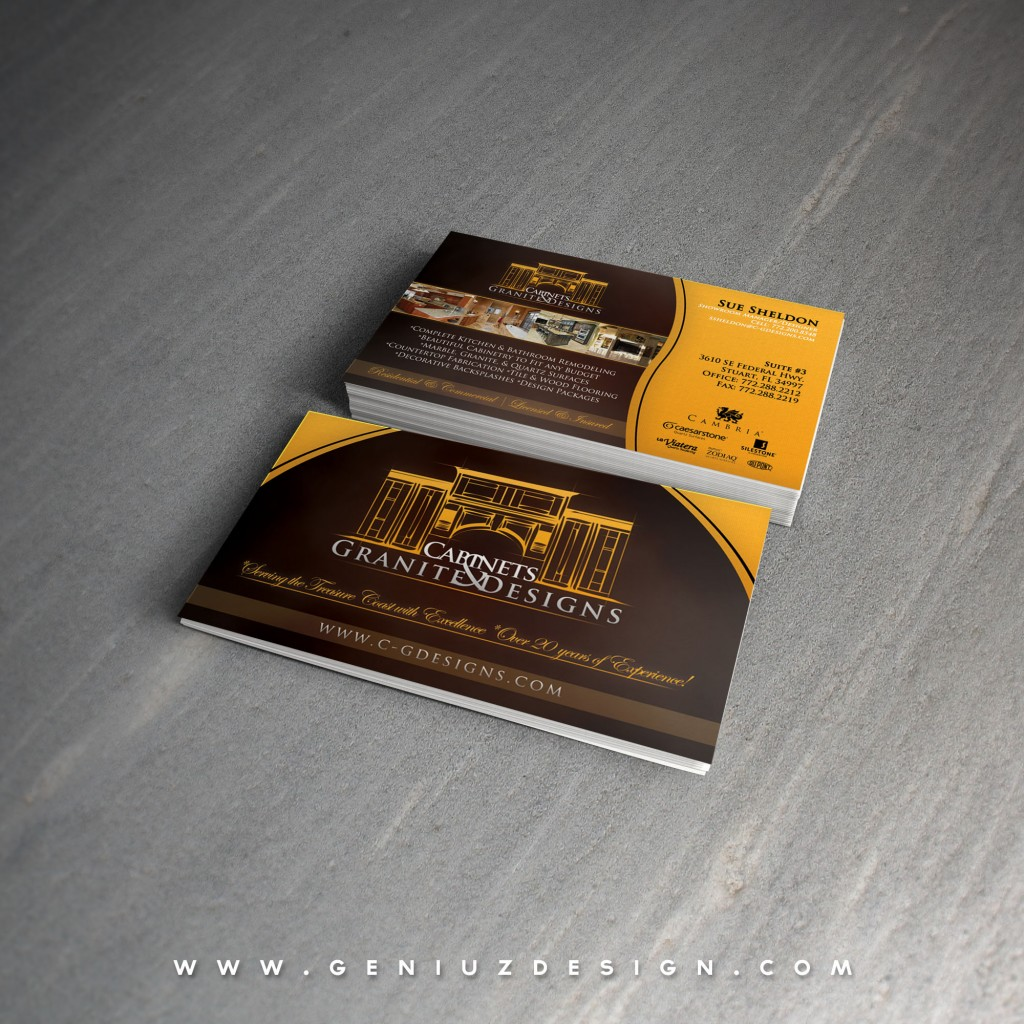 Cabinets & Granite Designs Business Card
