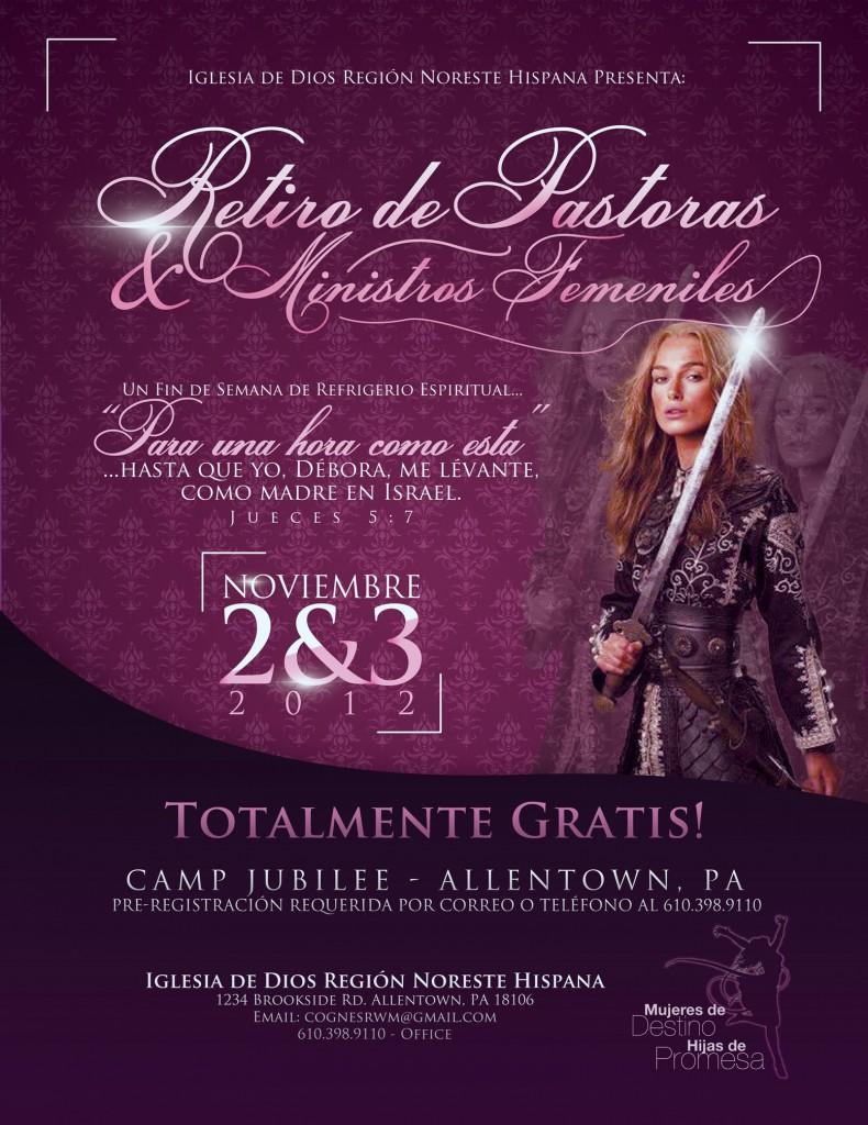 Retiro de Pastoras & Ministras Femeniles Flyer
